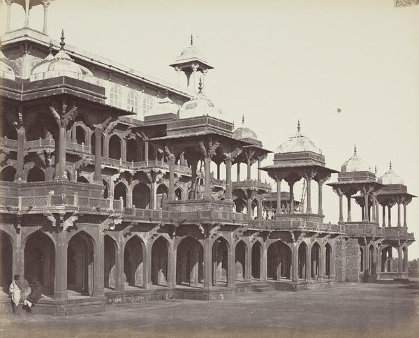 'Secundra. Upper part of the Mausoleum of Akbar' (1858 - 1865)
