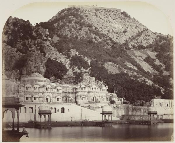 Temples and Hill Fort, Alwar (after 1858)