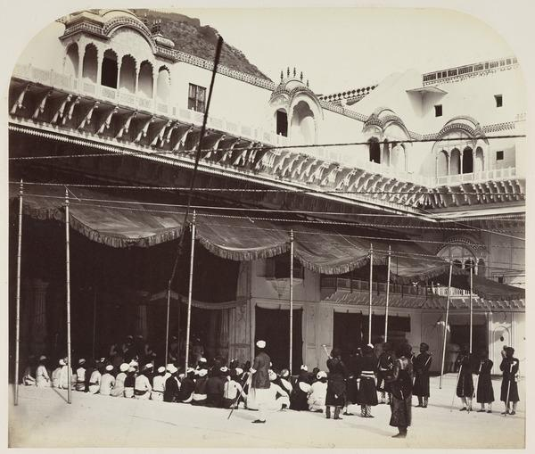 Ulwur - An Inner Court of the Palace (Early 1860s)