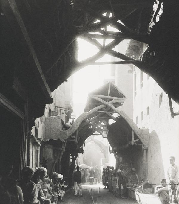 The Bazaar, Shikarpur, Sind (About 1890)