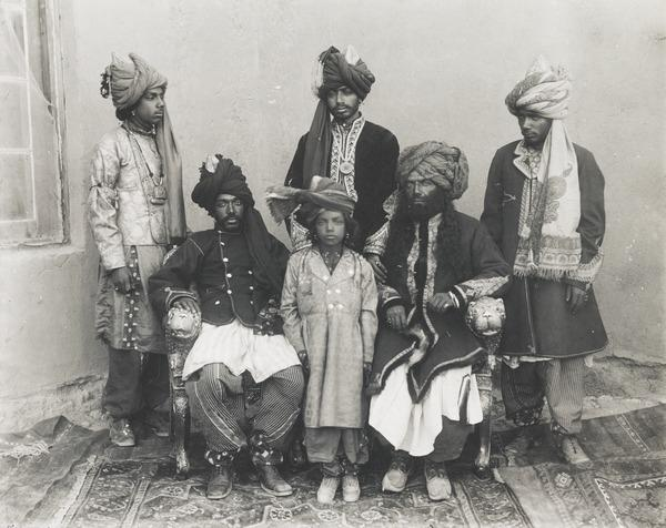 His Highness the Khan of Kalat and Sons (About 1893)