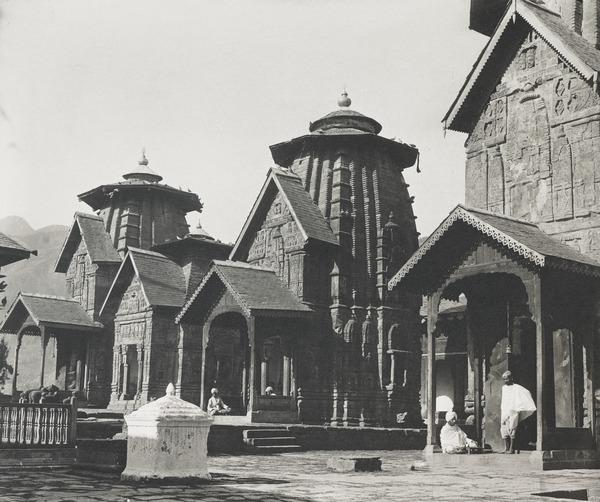India [?] Shrine with Four Pilgrims (About 1890)