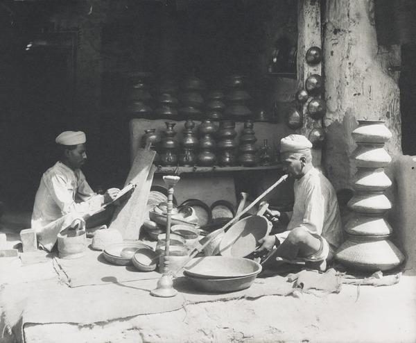 Making Brassware, Punjab (About 1902)