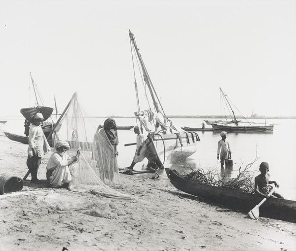 Boat Scene, Karachi (About 1890)