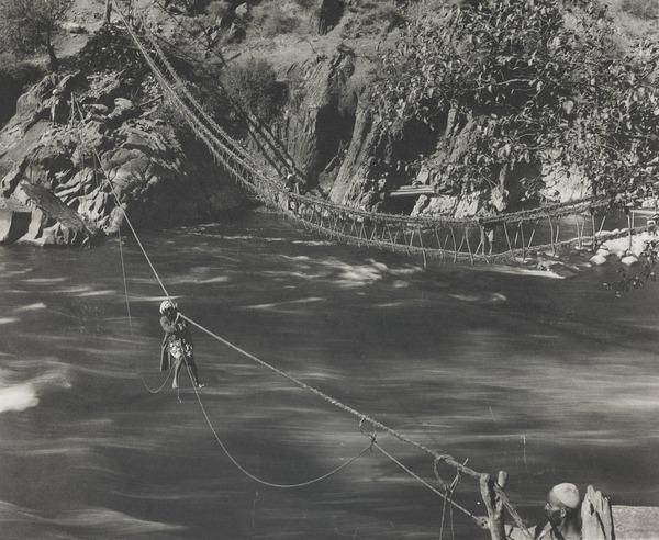 River crossing, River Jhelum, Kashmir (About 1896)
