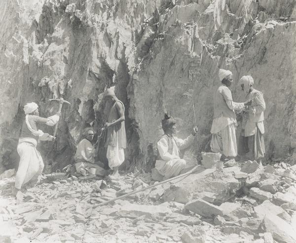 Men Quarrying, Baluchistan (About 1900)