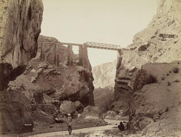 Louise Marguerite Bridge, Chappar Rift, Khalifat Mountain, Baluchistan (About 1889)