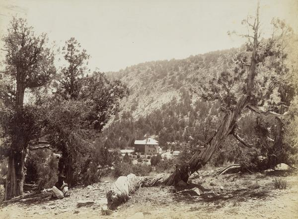 'The Residency - Ziarat Baluchistan. Race course hill. 2nd [ ] house' (About 1895)
