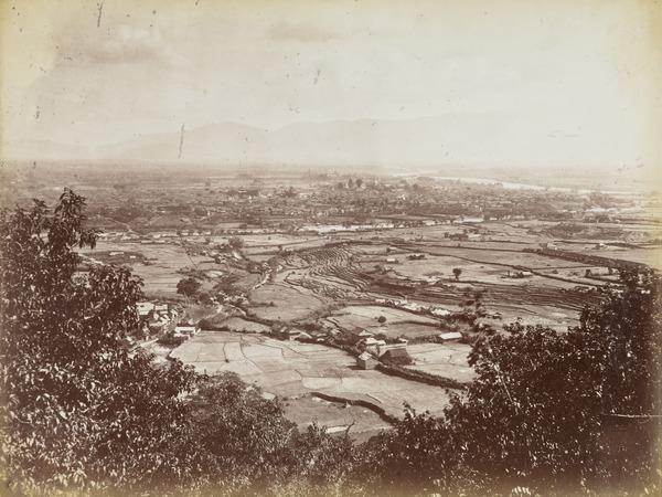'Nepal valley and Kathmandu. Looking towards Thankot'