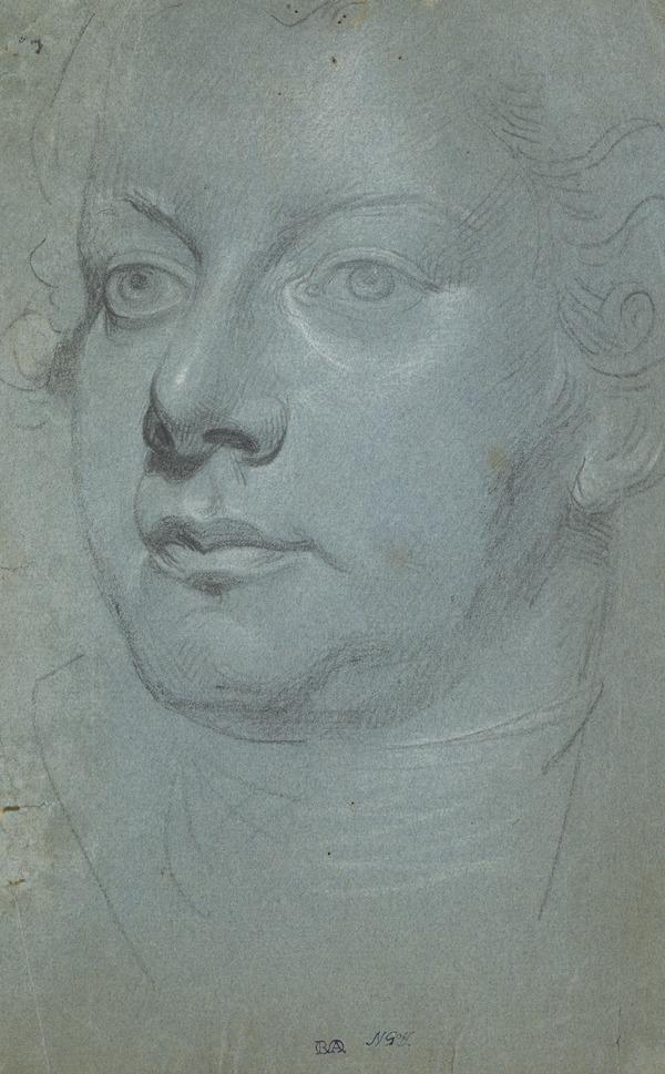 The Head of a Man, Facing Three-Quarters Left