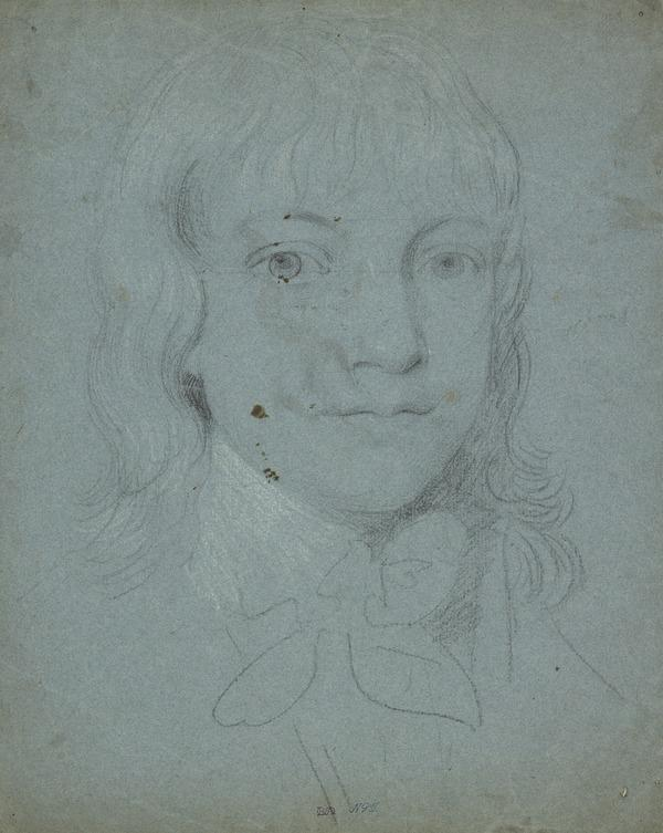 The Head and Shoulders of a Boy [Verso: A Kneeling Woman]