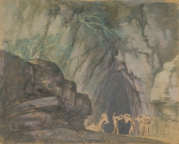Figures Outside a Cave (Estimated earliest year: 1755)