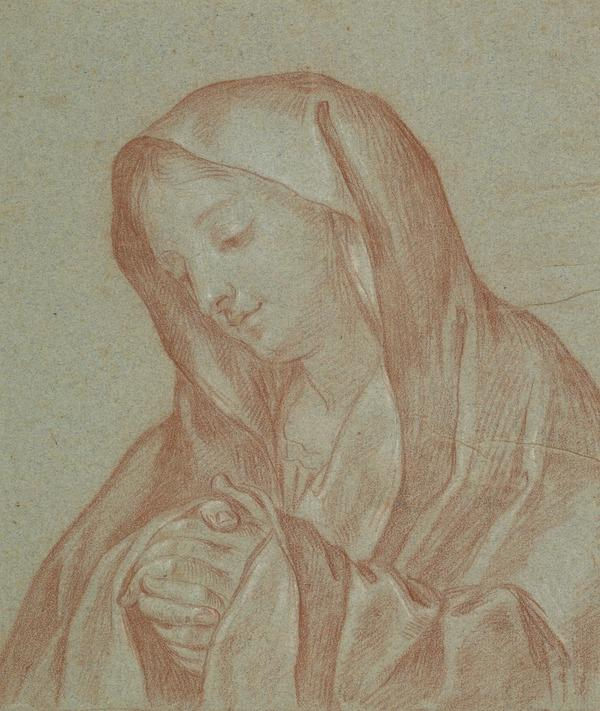 The Mater Dolorosa. Copy after a Painting by Carlo Dolci