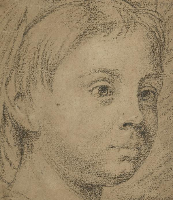The Head of a Child [Verso: A Female Face]