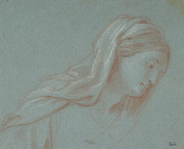 Study for the Head of a Madonna [Verso: Drapery Study]