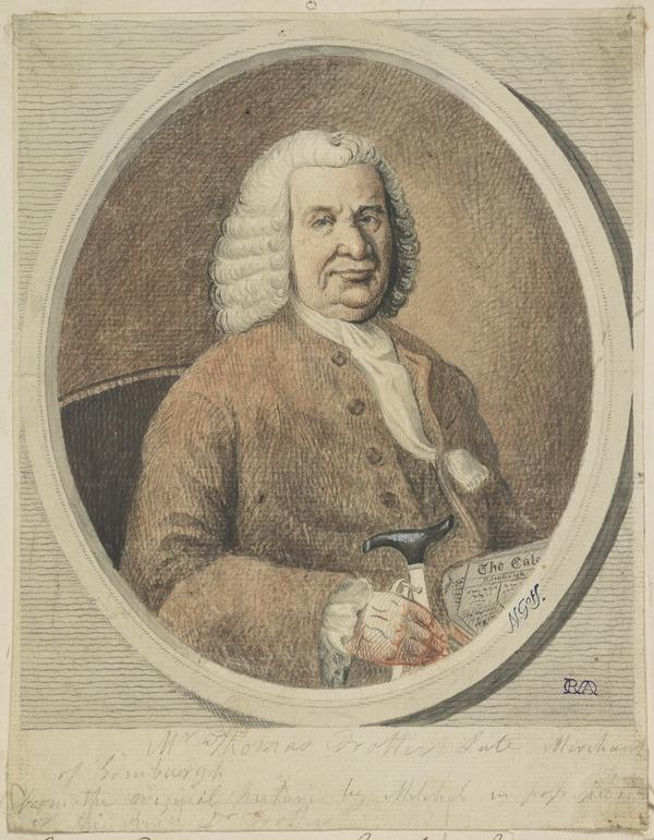 Thomas Trotter, died 1767. Edinburgh Merchant. Copy after the Painting by William Millar