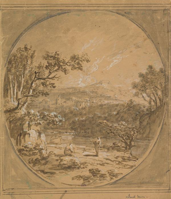 A Classical Landscape with Two Figures