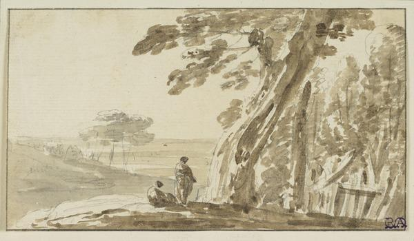 Landscape with a Tree and Two Figures