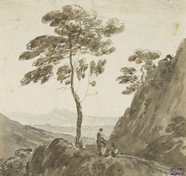 Landscape with Two Figures on a Mountain Path
