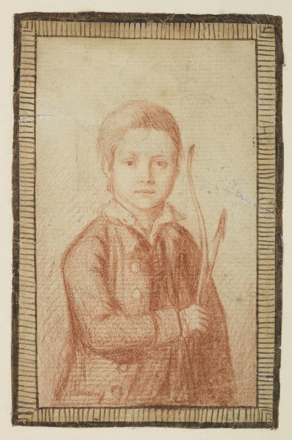Thomas Cummyng Holding a Bow and Arrow (Dated 1774)