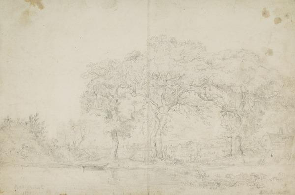Landscape with Lake (Dated 1820)