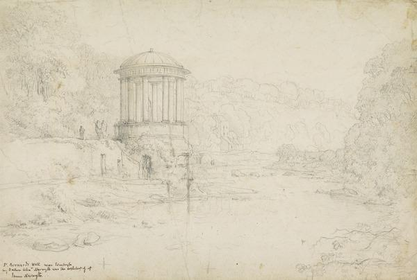 St Bernard's Well, Stockbridge, Edinburgh [Verso: Sketch of a Child's Head]