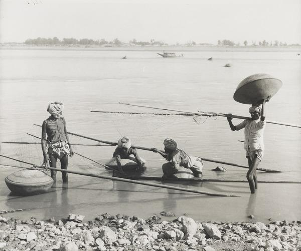 Fishing on the Indus River, Sind (About 1890)