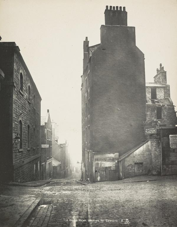 Horse Wynd, looking towards the Cowgate (1871)