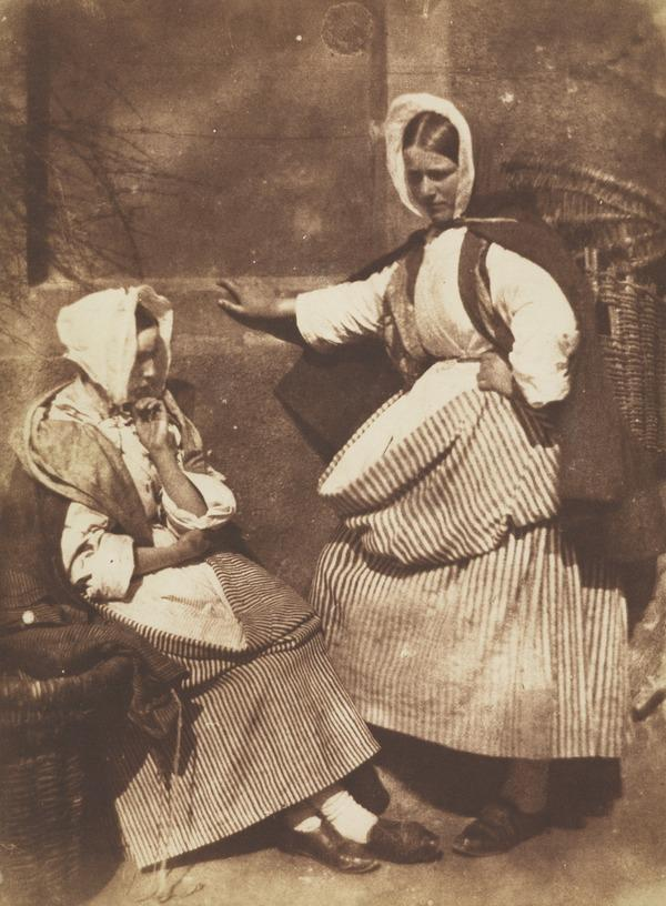 Two Newhaven fishwives, perhaps Mrs Elizabeth (Johnstone) Hall on the right (1843 - 1847)