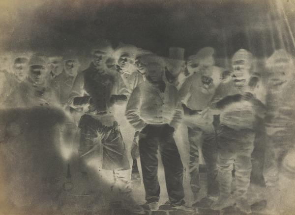 Large group of Newhaven fishermen [Newhaven] (21 June 1845)