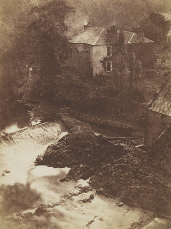 Colinton Manse and Weir, with part of the old mill on the right [Landscape 37]