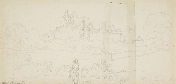 Craigmillar Castle, Edinburgh, with the Artist's Son, James, in the Foreground (Dated September 16, 1822)
