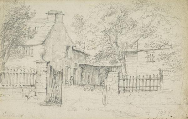 The Backyard of a House (Dated 1807)
