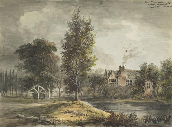 Peel Hall near Manchester (Dated 1838)