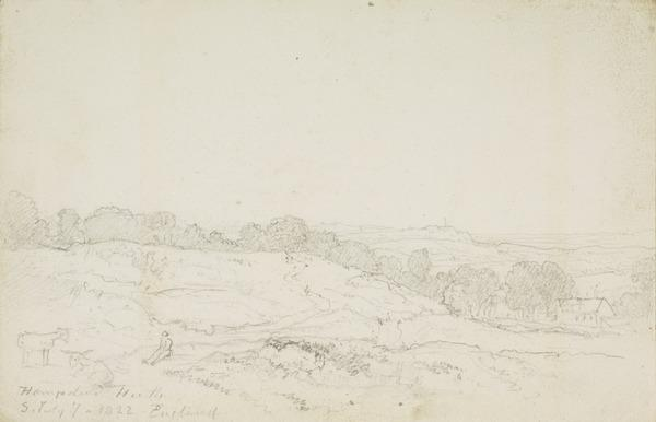 Hampstead Heath, London (Dated July 7, 1822)