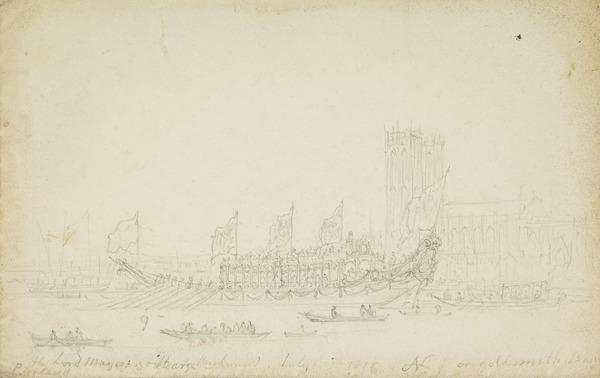 The Lord Mayor's Barge (Dated July 1816)