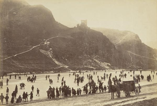 Skating, St Margaret's Loch (about 1880)