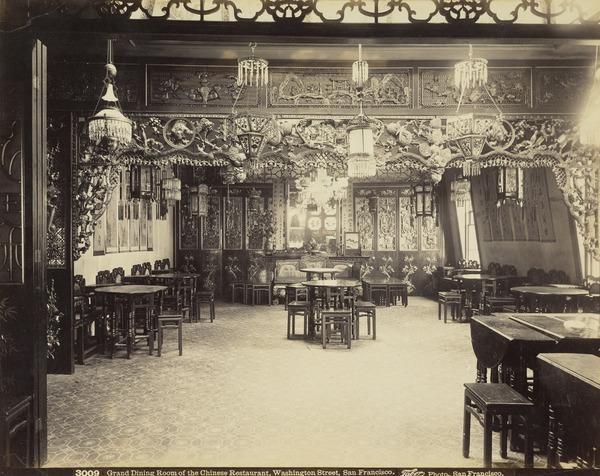 Grand Dining Room of the Chinese Restaurant, Washington Street San Francisco, California