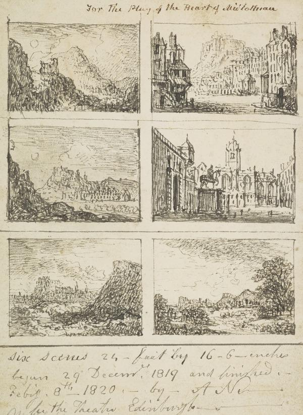 Views of Edinburgh. Six Designs for Stage Sets for 'The Heart of Midlothian' (December 1819 - February 1820)