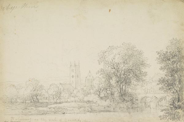 Kilwinning Abbey, Ayrshire [Verso: Mechanical Sketches]
