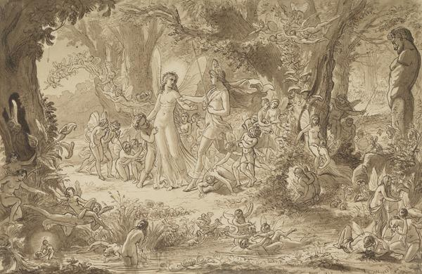 Study for the Painting 'The Quarrel of Oberon and Titania' (About 1848)