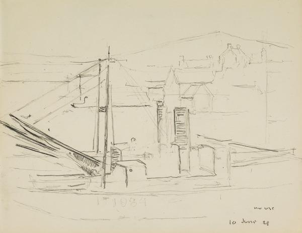 Boat by a Pier (About 1928 - 1930)