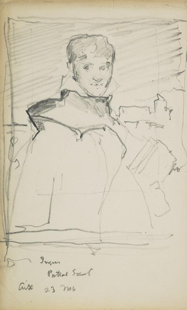 Sketch of a portrait painting of François-Marius Granet by Jean-Auguste-Dominique Ingres