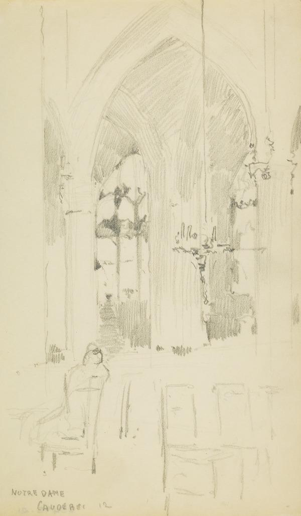 Interior view of Notre Dame Cathedral, Caudebec