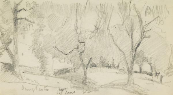Landscape with trees, Dunglaston (1922)