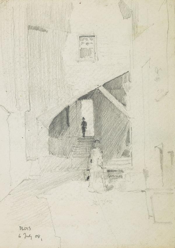 A backstreet in Blois (1908)