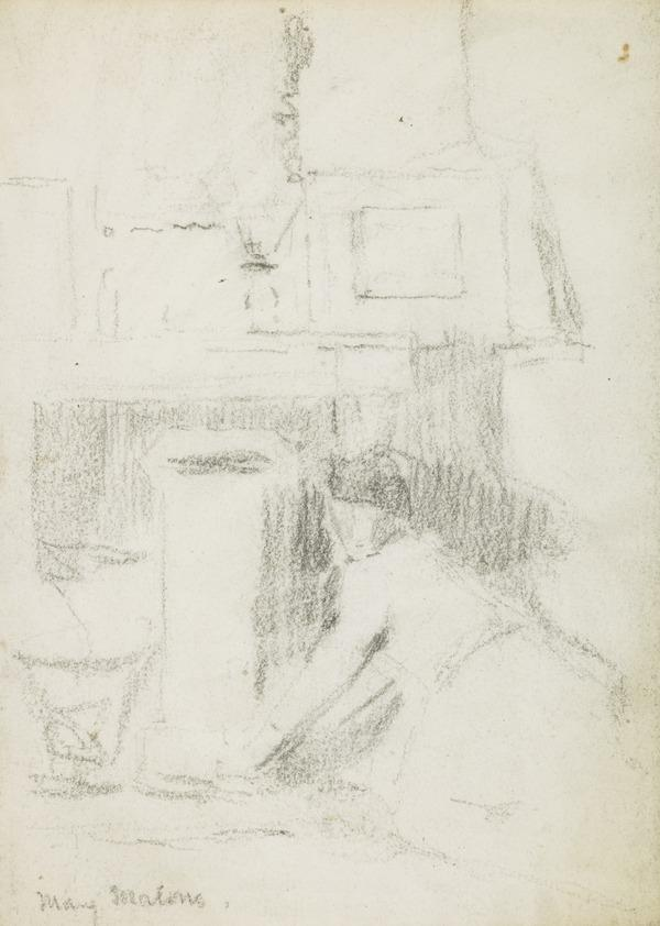 A woman kneeling on the floor