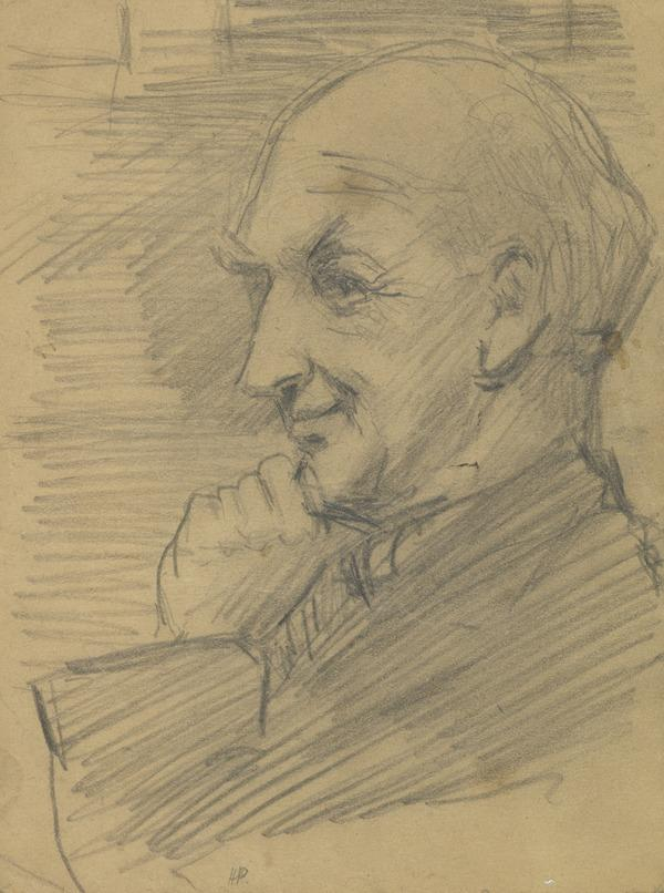 Drawing of a man in profile