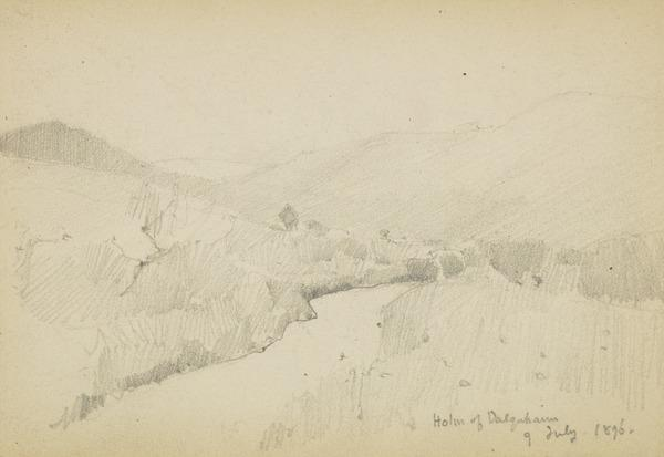 A path by hills (1896)