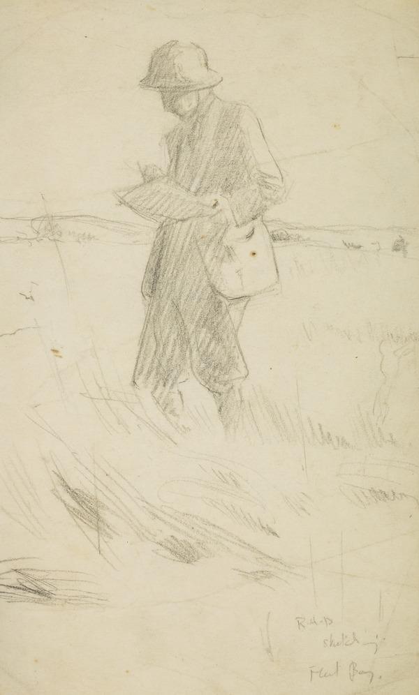 A man (R. H. D.?) sketching